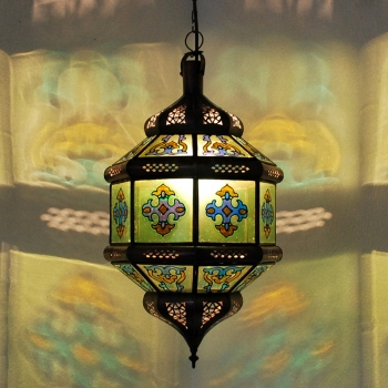 Marokkanische Hängeleuchte Zowak Grün