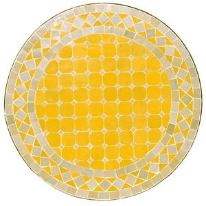 Mosaik Tisch Beistelltisch D60cm Gelb