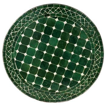 Marokkanischer Mosaiktisch D60cm Dunkelgrün