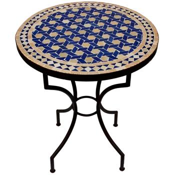Mosaiktisch Bistrotisch Dafra D60cm Blau