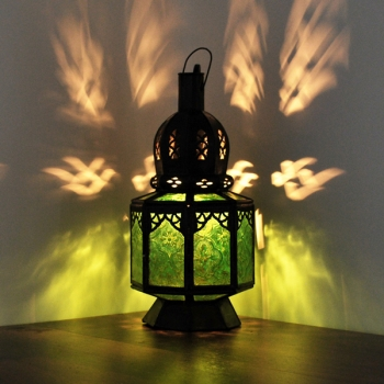 Orientalische marokkanische arabische Laterne SAMARA Grün