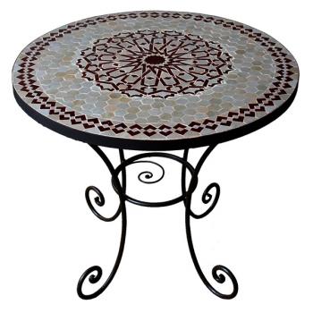 Gartentisch aus Marokko Mosa-2 D80cm