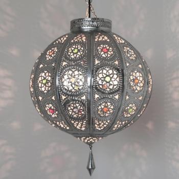 Orientalische Deckenleuchte Kora-Kazdir_K M/S Silber