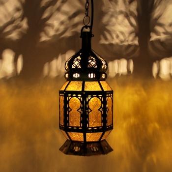 Marokko Laterne Mtemmen Amber