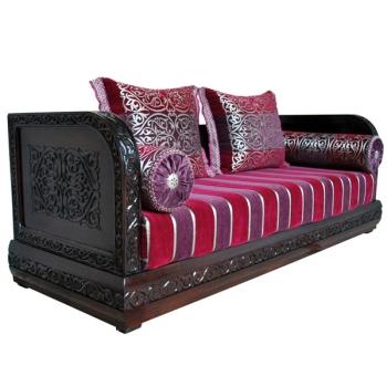 Orientalische Couch rosa