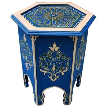 Orientalischer Teetisch aus Holz, Zarga Handbemalen.