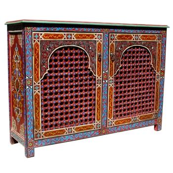 Arabischer Schrank Moscharabi Handbemalt