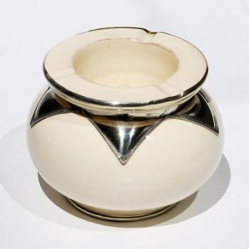 Marokkanischer Keramik Aschenbecher Weiß