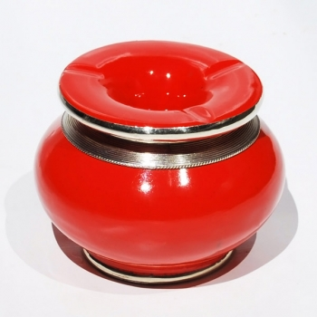 Marokkanische orientalische Keramik Aschenbecher Rot