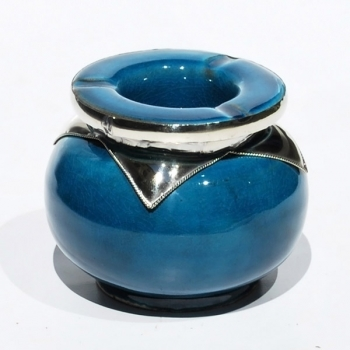 Marokkanischer Keramik Aschenbecher Blau