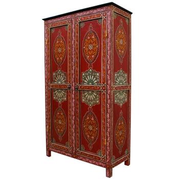 Orientalischer Schrank aus Marokko Zwak-rot