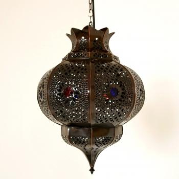 Orientalische Deckenleuchte PELOTA Kupferpatiniert
