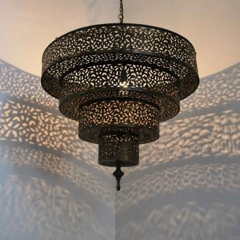 Marokkanische Lampe aus Messing