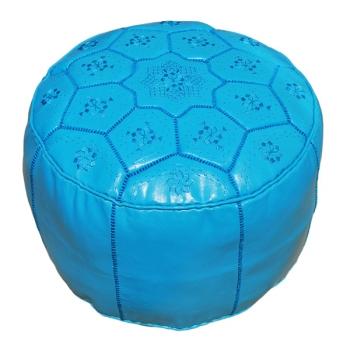 Sitzkissen aus Marokko Tarz D54cm Türkisblau