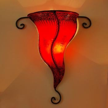 Orient  Wandlampe Garn Rot