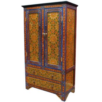 Marokko Schrank  Zouin_3 Handbemalt