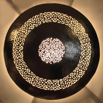 Orientalische Marokkanische Wandlampe Wandleuchte DORA-2 aus Messing