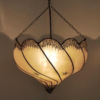 Marokkanische Lederlampe GOLLA  Natur