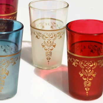 Marokkanische Teegläser Thahab 6 Stück