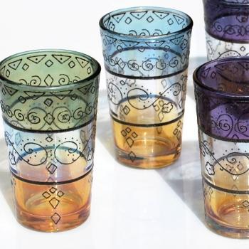 Marokkanische Teegläser Henna 6 Stück