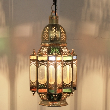 Orientalische Hängeleuchte Moulamkanat  aus Messing